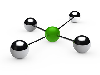 Leadership concept with green sphere