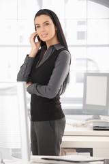 Elegant businesswoman on mobile call