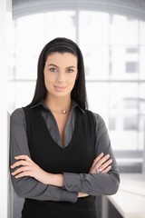 Portrait of smart dark woman