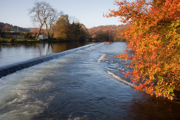 Weir on River Leven, Newby Bridge, Cumbria