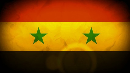 Syria flag wave animation video