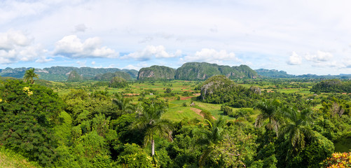 Panoramic view of the Viñales valley in Cuba (30 Megapixels)