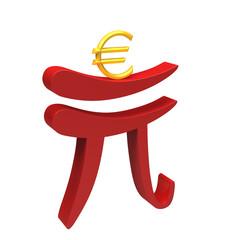 Renminbi helping euro