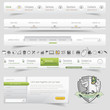 Web design template navigation set with icon set