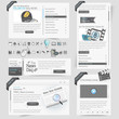 Web site design template elements with icons set
