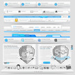 Web design template elements with icon set