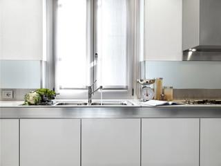 dettaglio lavandino di cucina moderna