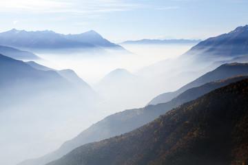 Valtellina - Sondrio - vista con nebbia