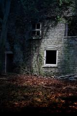 old derelict cottage