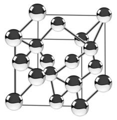 isolated diamond structure illustration