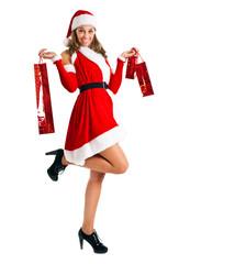 Santa woman full length