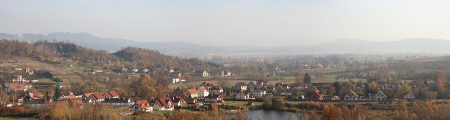 Panorama małego miasta