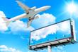 Giant Poster Plane Flying