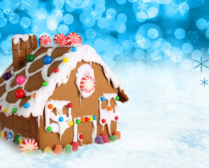 Christmas gingerbread house.
