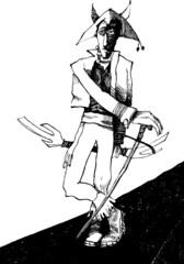 ancient fantasy warrior with sword