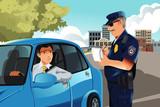 Traffic violation poster