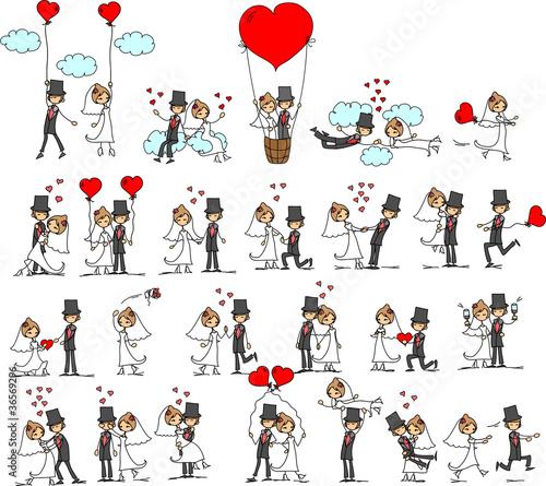 фотографии мультфильм свадьбы