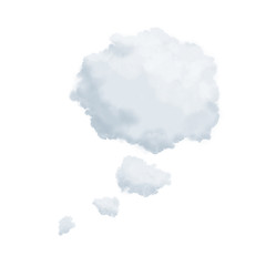 Cloud in shape of a thinking bubble