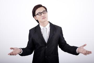 Asian businessman doubtful