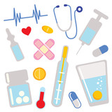 medical icons. design elements