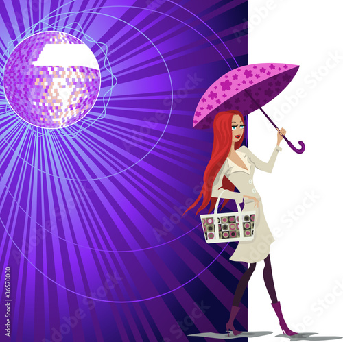 vector woman shopping