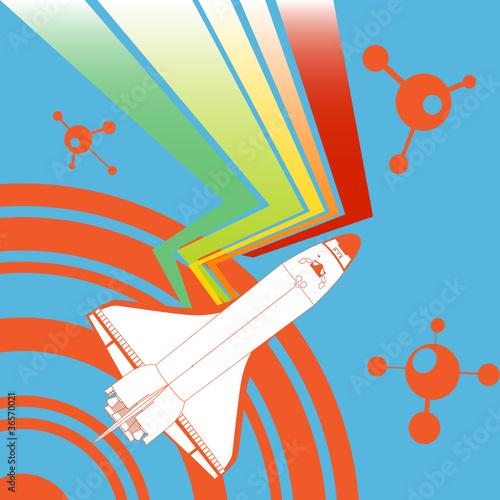 abstract shuttle background