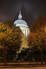 St Pauls Cathedral, London, England, UK, illuminated