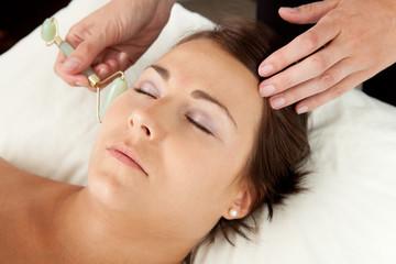 Jade Roller on Massage
