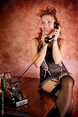 Pin Up al telefono
