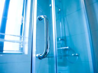modern glass shower cabin