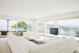 Wraparound sofa in modern living room