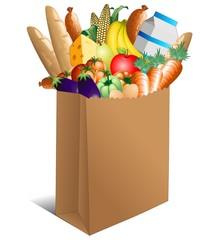 Sacchetto Spesa Cibo Alimentari-Shopping Paper Bag Food