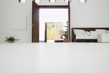 Desk in modern house