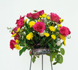 Beautiful bouquet of fresh vibrant arranged