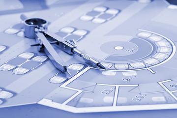 architecture blueprint & compass
