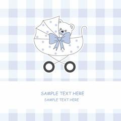 tarjeta anuncio nacimiento bebé niño