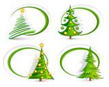 Fototapety Christmas trees