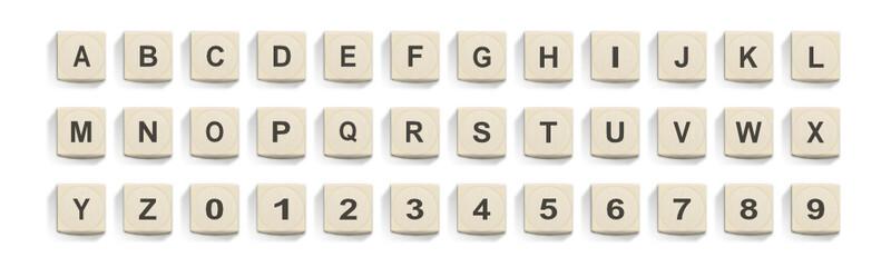 Buchstabenwürfel Set