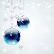 Sfondo natalizio con palline blu - Blue Christmas baubles