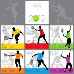 Tennis Aces 2012 Calendar Template