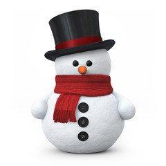 Snowman with top hat
