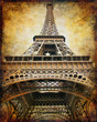 eiffel tower - retro styled picture