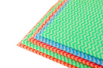 Color napkins over white