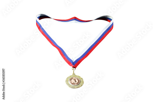medal for 3rd place with a ribbon