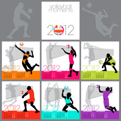Volleyball Moments 2012 Calendar Template