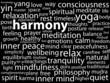 """HARMONY"" Tag Cloud (meditation relaxation peace zen yin yang)"