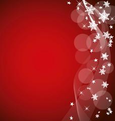 Weihnachtsflyer rot