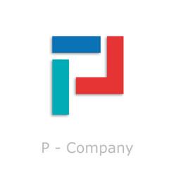 Sticks Logo initial letter P # Vector