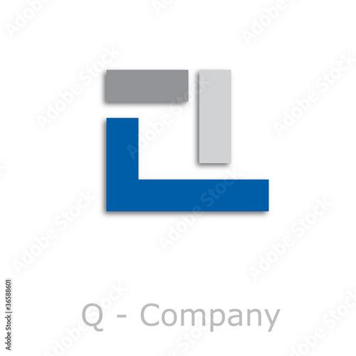 Sticks Logo initial letter Q # Vector