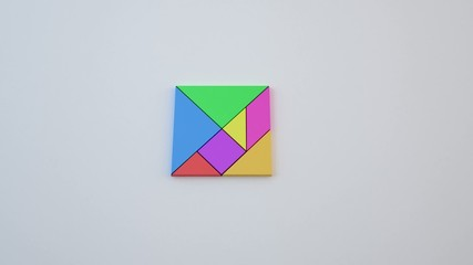 tangram combinazioni 3d
